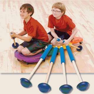 Physical Education Scooter Boards   Mushroom Paddles (set