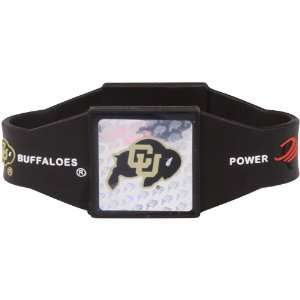 NCAA Colorado Buffaloes Black Power Force Silicone Wristband