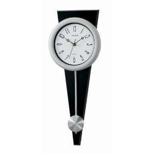 Modern wood pendulum wall clock,reverse geometry back