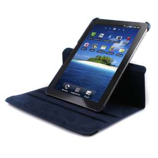 Rotating Leather Deep Blue Case Cover Stand for Samsung Galaxy Tab 10