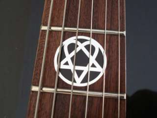 HIM HEARTAGRAM Vinyl Guitar Decal Sticker Inlay Set