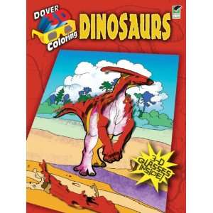 Dover Publications Dinosaurs Coloring Book 3D Toys
