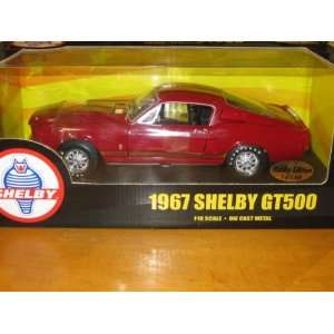 1967 Shelby G.T. 500 Red Diecast 118 Scale American