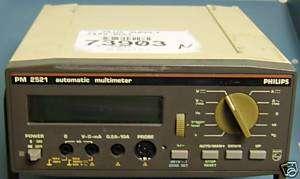 Philips PM 2521 PM2521 Digital Multimeter, parts unit