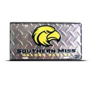 Southern Miss Golden Eagles Metal College License Plate