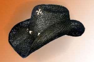 Western Cowboy / Cowgirl Hat   Black Burlap