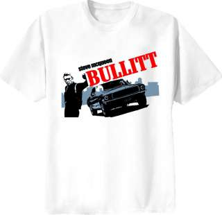 steve mcqueen bullitt retro shirt
