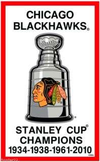Chicago Blackhawks 3x5 NHL Licensed Stanley Cup Banner