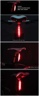 NEW 2011 Bright Cycling bicycle 5 LED FLASH Bike Red Tail Rear Tail