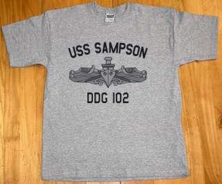 US USN Navy USS Sampson DDG 102 Destroyer T Shirt