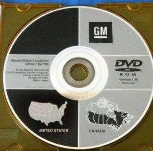 2007 GMC YUKON DENALI SIERRA GPS Navigation DVD vr 1.10