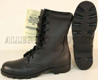 USGI MILITARY LEATHER SPEED LACE Combat Boots 3.5R NEW