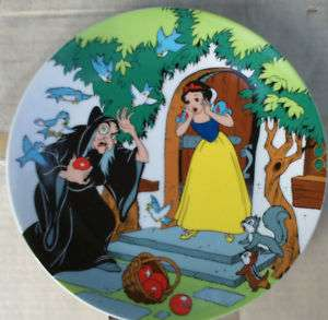 Grolier Disney SNOW WHITE The Witch & The Apple Plate