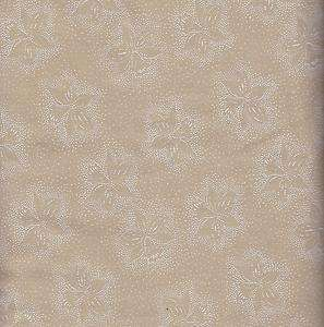 108 WIDE 100% COTTON QUILT BACKING By The Yard WHITE ON TEA DYED