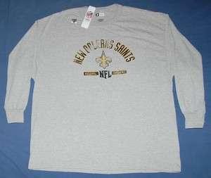 New Orleans Saints Team Name & Logo Long Sleeve Shirt 3XL