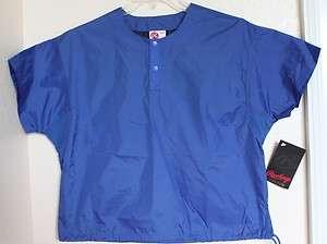 Rawlings Baseball Football Cage Jacket  M Youth Blue