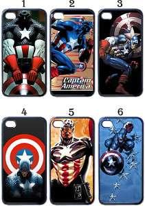 Captain America Apple iPhone 4 Case (Black)