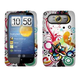 New For HTC HD7 T mobile Phone Colorful Flowers Silicone Skin Case