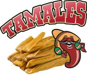 Tamales Mexican Restaurant Concession Food Decal 14