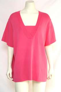 Cable & Gauge NEW Plus Size 3X/22W/24W V Neck Top NWT