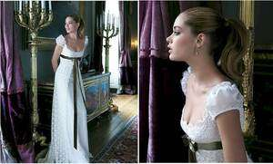 satin A line short sleeve sash Wedding Dress prom gown Sz 4 18+
