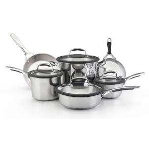 Gourmet 10 Piece Stainless Steel Cookware Set 75656
