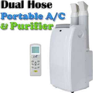 Portable Air Conditioner AC Dehumidifier, Dual Hose A/C