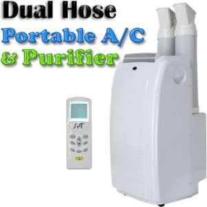 Portable Air Conditioner AC Dehumidifier, Dual Hose A/C