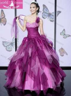Shoulder Quinceanera Ball party Prom Wedding Pageant dress Bridal gown
