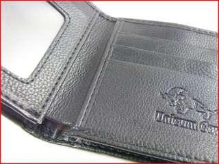 Mens Good Bull Bifold Brown Top Soft PU Leather Zip Purse Wallet ID