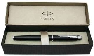 Parker IM Metal Fountain Pen, Matte Black, Medium Nib