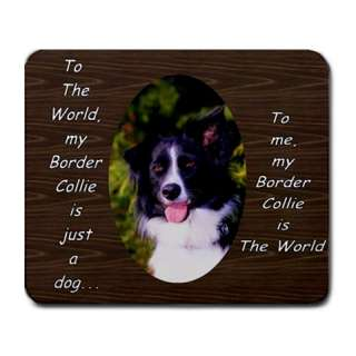 BORDER COLLIE DOG PUPPY PUPPIES MOUSE MAT PAD MOUSEPAD