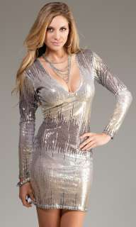 LONGSLEEVE SEQUIN MINI DRESS CLUBWEAR COCKTAIL EVENING GLAMOUR CHIC