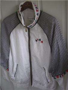 CASINO THEME JACKET, NYLON, NEW LAVON WOMENS SIZE L