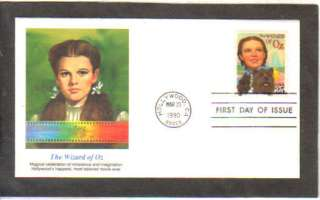 CLASSIC FILMS WIZARD OF OZ JUDY GARLAND FIRST DAY STAMP CACHET COVER