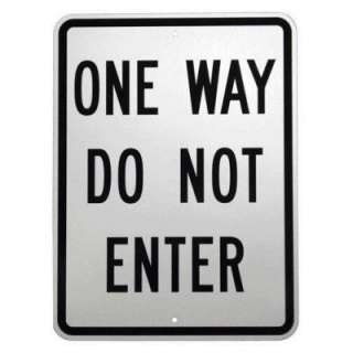 18 in. Aluminum One Way Do Not Enter Sign 94199