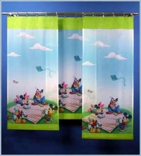 DISNEY Mickey Mouse Kinder Schiebe Gardine Zimmer Deko