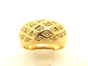 Goldring 585 Gold 14kt mit 19 Diamanten Goldschmuck Schmuck Gelbgold