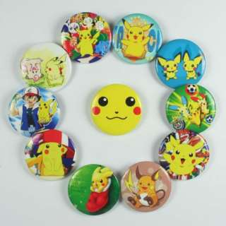 Lots Wholesale 24pcs Pokemon Pikachu Pins Badges Buttons party favor