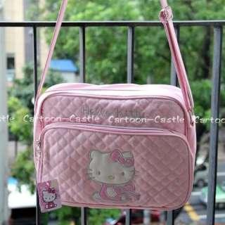 HelloKitty Quilted Shoulder Purse Messenger Bag Pink 2