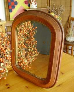 Mirror Frame w/glass Civil War Era c.1860s Old Bittersweet Paint
