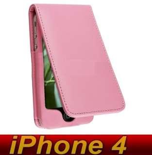 iPhone 4 Leder Tasche Etui Flipcase Case + SCHUTZFOLIE