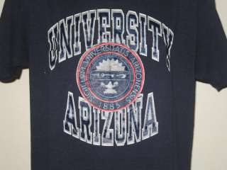 vintage UNIVERSITY ARIZONA CHAMPION T Shirt college soft thin 80s