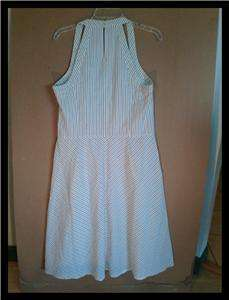 Taylor Loft Black and White Stripe Sundress Womens SZ 14 Lined