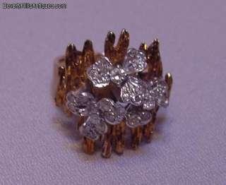 27 Diamonds 14k Yellow Gold Designer Ring