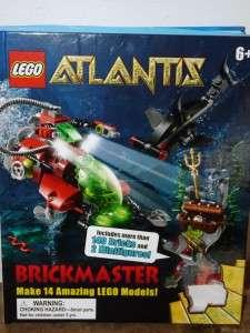 Lego Atlantis Activity Books 1 2 With Haimann Squidman Mini Figures