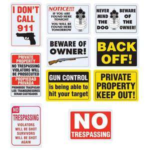 No Trespassing Private Property Home Security 024409968020