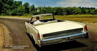 1961 LINCOLN CONTINENTAL ~ CONVERTIBLE (REAR VIEW)