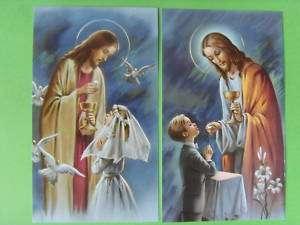Heiligenbild Set23   Kommunion   Jesus   Junge +Mädchen