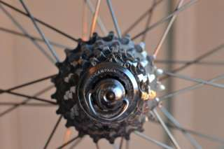 Speed Campagnolo C Record Wheels w Campy rims and cassette 700c